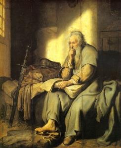 1627-Rembrandt-Saint-Paul-dans-sa-prison-Paul-saint-in-his-prison-hst-73x60-cm-Stu